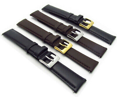 Soft Genuine Leather Extra Long XL watch Strap Choice of colour FREE P&P D002