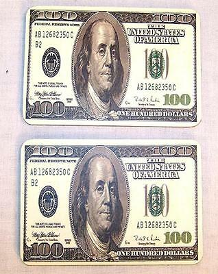 6 HUNDRED DOLLAR BILL MAGNET ADDRESS BOOK cards books name card new bills lot