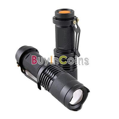 Mini Focus Zoom CREE Q5 LED 7 W 300LM 14500 Flashlight Torch Adjustable Zoomable