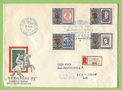 Hungary 1971 Philatelic Exhibition set First Day Cover