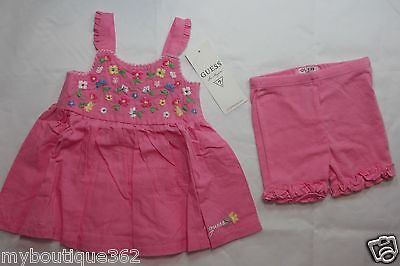 GUESS BABY GIRLS PINK SLEEVELESS DRESS  SZ 6-9 MOS NEW NWT