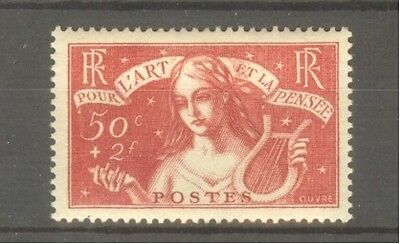 """FRANCE STAMP TIMBRE N° 308 """"CHOMEURS INTELLECTUELS, ART/PENSEE 1935"""" NEUF xx SUP"""