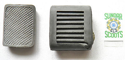 Grey Kick Start And Rear Brake Pedal Covers. Suitable For Lambretta