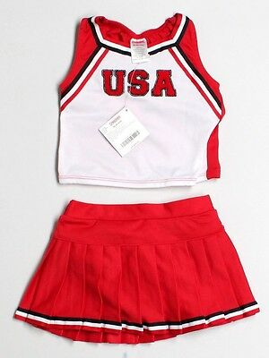 New Toddler Girl Gymboree Cheerleader USA Red Skirt Costume Size 12/18 Months