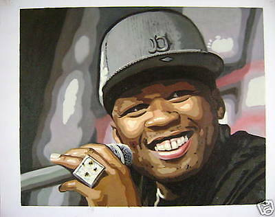 "50 Cent G Unit 16x20"" OIL PAINTING POP ART"