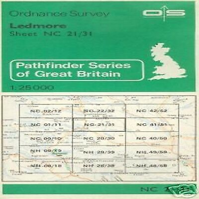 Cartina Map Great Britain Ledmore Survey Ordnance 25000