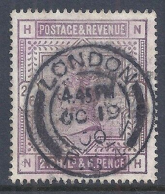 GB 1884 SG178 QV 2/6d LILAC FINE USED LETTERS 'NH'