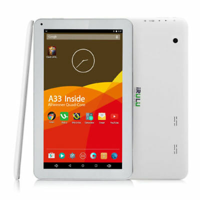 "iRULU 10.1"" Android 5.1 Lollipop 10 Inch Tablet PC 8G Quad Core GMS White BT New"