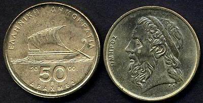GREECE 50 Drachmes 2000 Homer UNC
