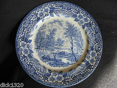 "VINTAGE BROADHURST B&W 9.5"" PLATE THOMAS GAINSBOROUGH 250th ANNIVERSARY"
