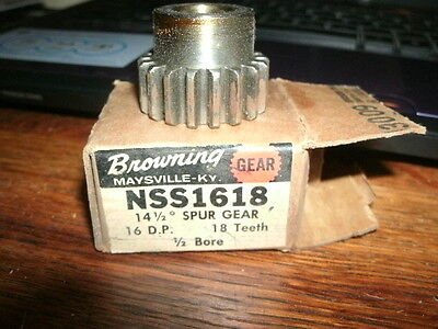 BROWNING NSS1618 18 teeth 16 D.P. SPUR GEAR NEW metal industrial tool