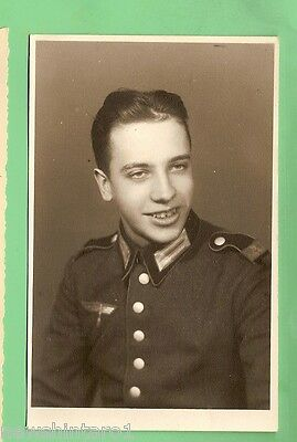 #B. #121  German Wwii Photo Postcard - Young Soldier