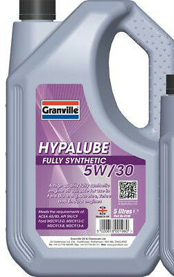 Granville Hypalube 5W30 Fully Synthetic Engine Oil 5 Litre O.e Spec