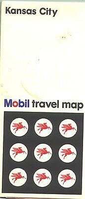 1967 Mobil Kansas City Vintage Road Map
