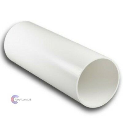 """5"""" 125mm x 350mm long Plastic Ducting Tube Pipe Extractor Fan System Wall Duct"""