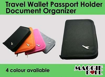 New TRAVEL WALLET PASSPORT HOLDER Document credit Card ORGANIZER Bag