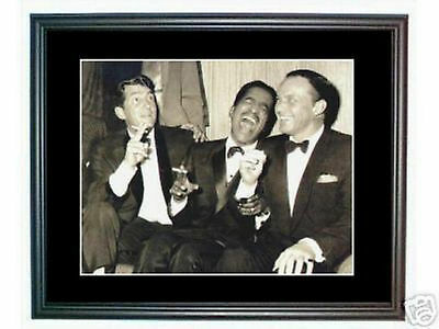 Rat Pack Frank Sinatra Dean Martin classic B & W photo