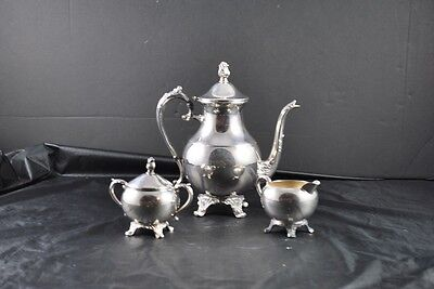 Vintage Lot Of 4 Silverplate F B Rogers Silver Co Teapot Creamer Sugar & Cover