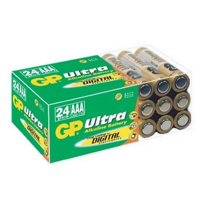 24 GP ULTRA  AAA LR03 Batteries LR03 1.5V ALKALINE HIGH PERFORMANCE
