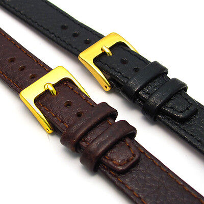 Open Ended Genuine Leather Watch Strap for Vintage Watch Choice of Colours D003