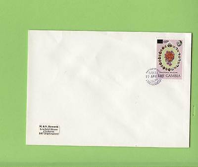 Gambia 1982 Royal Wedding surcharged stamp on First Day Cover
