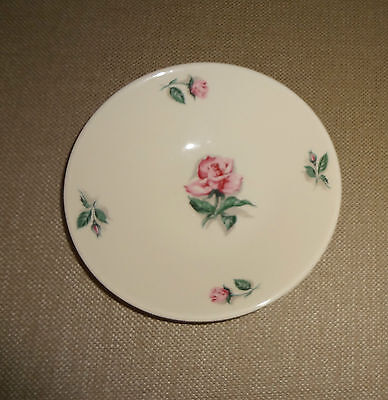 Set of 6 Knowles China Dinnerware Pink Rose & Leaf Pattern  Berry Bowls USA 51-6