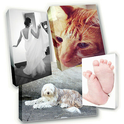 "Personalised 8"" x 8"" Square Canvas Print - Your Photo Image Printed & Box Framed"