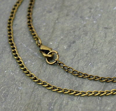 Antique Bronze Plated Curb Chain Necklace twist link bronze chains  2.4mm cn211b