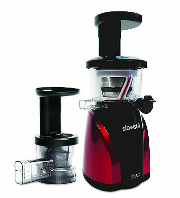 SlowStar Low Speed Vertical Juicer with Mincer & Juice Cap ~Tribest SW-2000