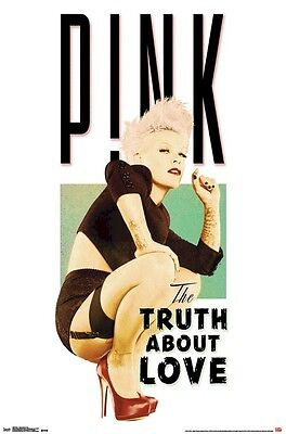 PINK POSTER ~ CROUCH 22x34 Music Alecia Beth Moore Lingerie Truth About Love