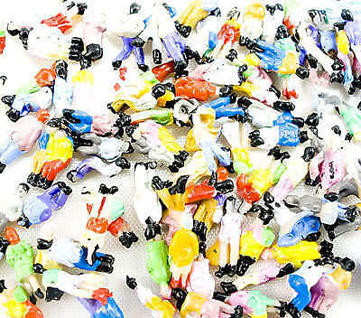 100  x 1:200 Painted Model Train People Scenery Figures Z Scale New