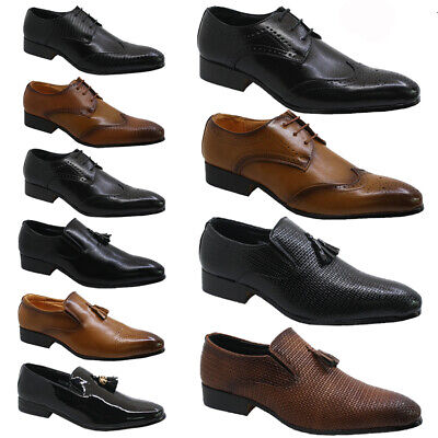 New Mens Faux Leather Smart Wedding Italian Formal Office Dress Work Shoes Size