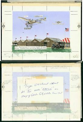 "Uganda 1987 75th Anniv. US Airmail Bleriot ""Dragonfly""!"