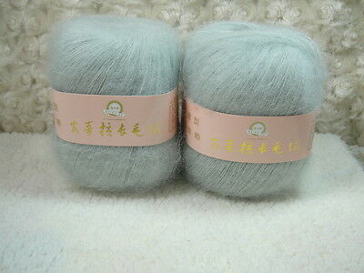 4*50g Skeins Luxury Angola Mohair Cashmere Wool Knitting Yarn Lot;Fine;200g;gray