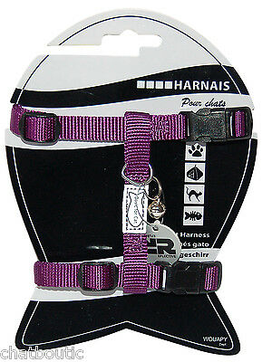 Harnais chat réglable Basic line - Violet (124943VIO)