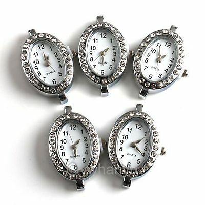 2PCS Free Postage Watch Face For Beading Silver Plated 151452
