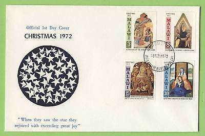 Malawi 1972 Christmas set on First Day Cover