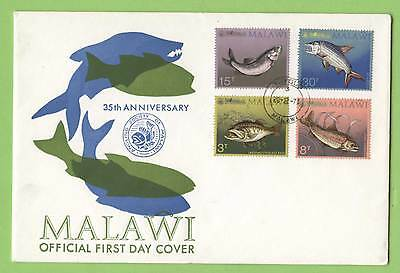Malawi 1974 35th Anniv. of Angling Society, Fish set on First Day Cover
