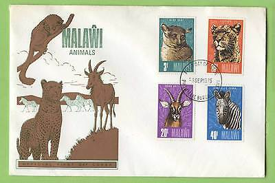 Malawi 1975 Animals set on First Day Cover