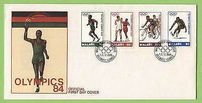 Malawi 1984 Olympics set on First Day Cover