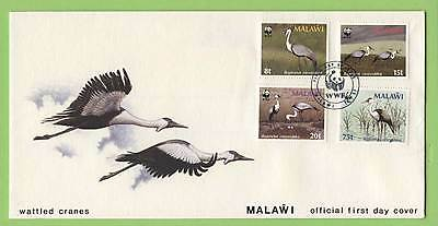 Malawi 1987 WWF Wattled Cranes set on First Day Cover