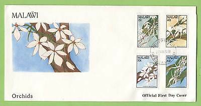 Malawi 1990 Orchids set on First Day Cover