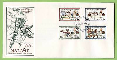 Malawi 1992 Olympics set on First Day Cover