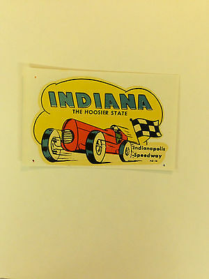 "Indiana ""The Hoosier State"" Indianapolis Speedway Sticker"