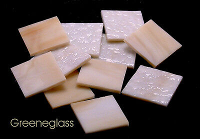 Amber & White Granite Mosaic Glass Tile * Cut to Order Shapes * Medium Package