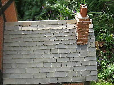 100 sq ins REAL Stone Miniature Grey Stone Roof Slabs