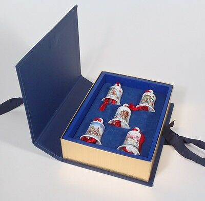 Hutschenreuther Lim Ed Porcelain Mini Bells w/ Fitted Book Box 1998 - 2002