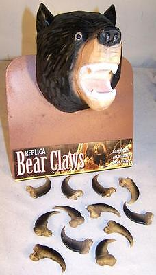 2 BLACK BEAR REPLICA CLAWS bears nails WILD animal claw LOT new items pendant
