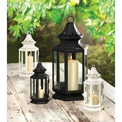 Victorian Candle Lanterns In Small, Medium Or Large - Black Or White