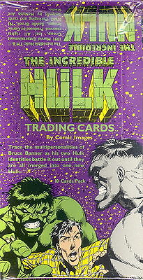INCREDIBLE HULK 1991 COMIC IMAGES FACTORY SEALED TRADING CARD BOX MARVEL